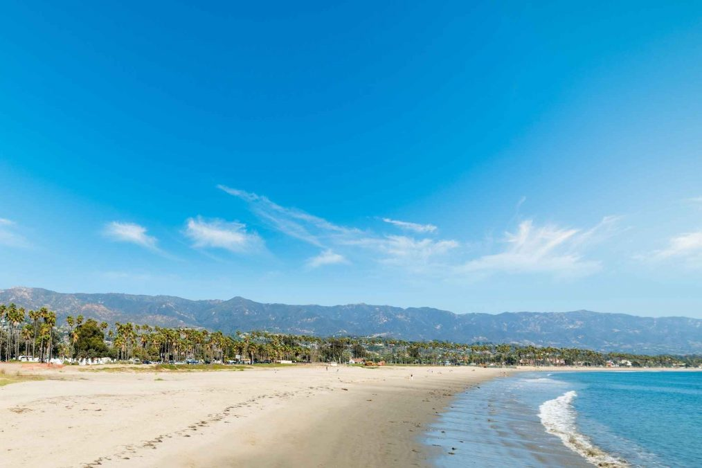De kust van Santa Barbara