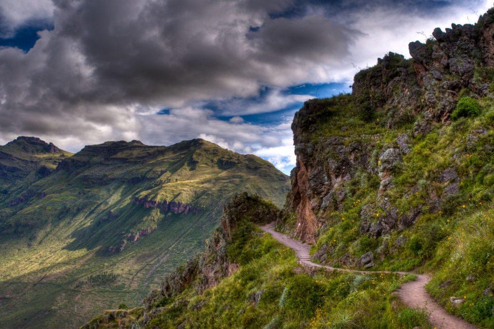 Het inca-pad (Inca Trail) door de bergen