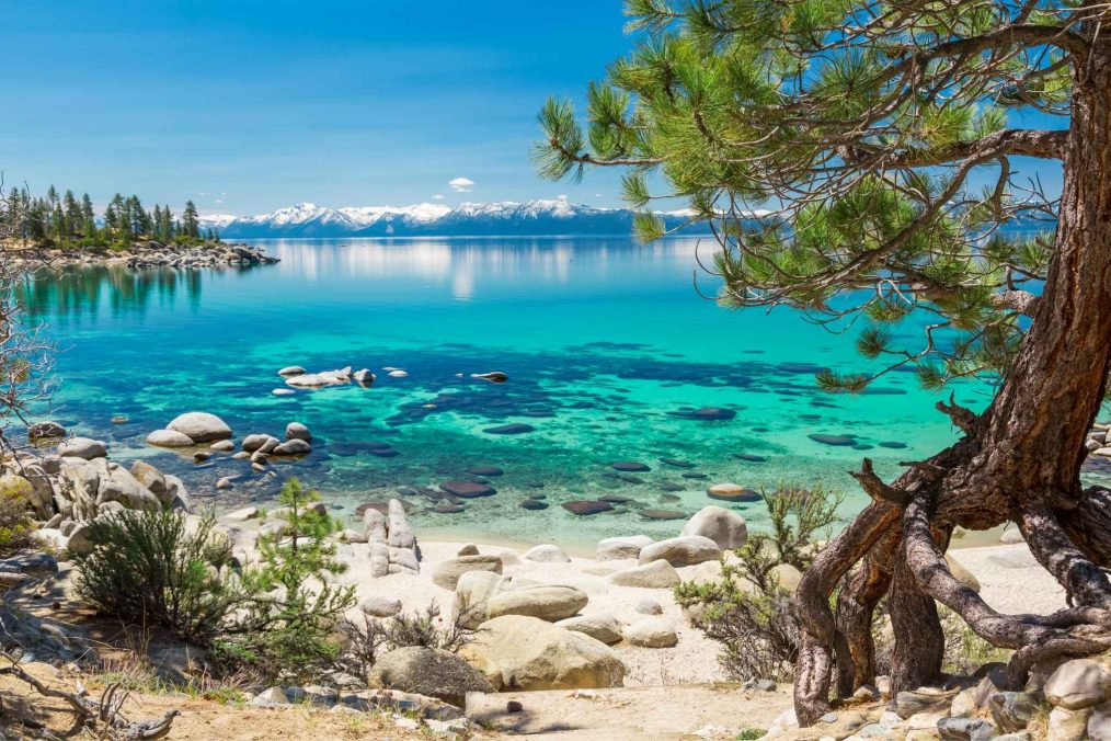 Strand bij Lake Tahoe