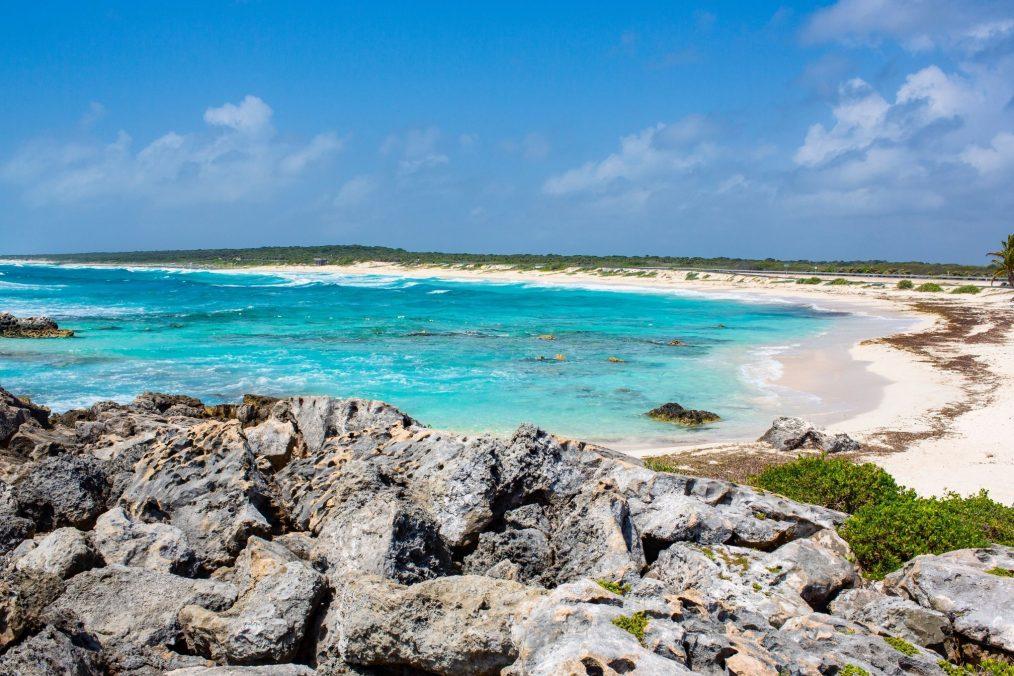 Strand op Cozumel eiland