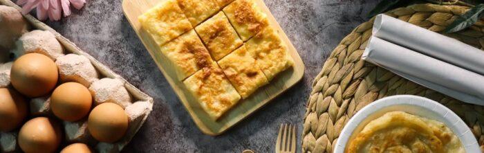 Surinaamse gerechten (Roti met ei)