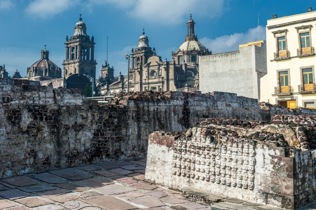 Templo Mayor in Mexico stad