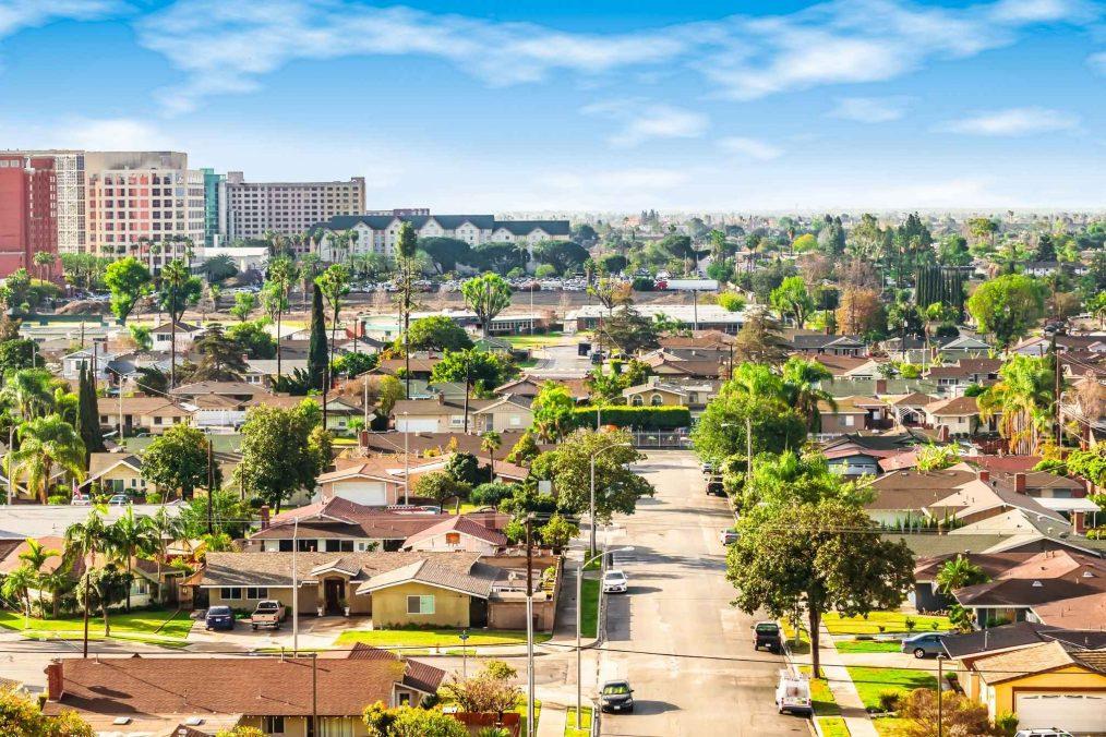 Uitzicht over Anaheim