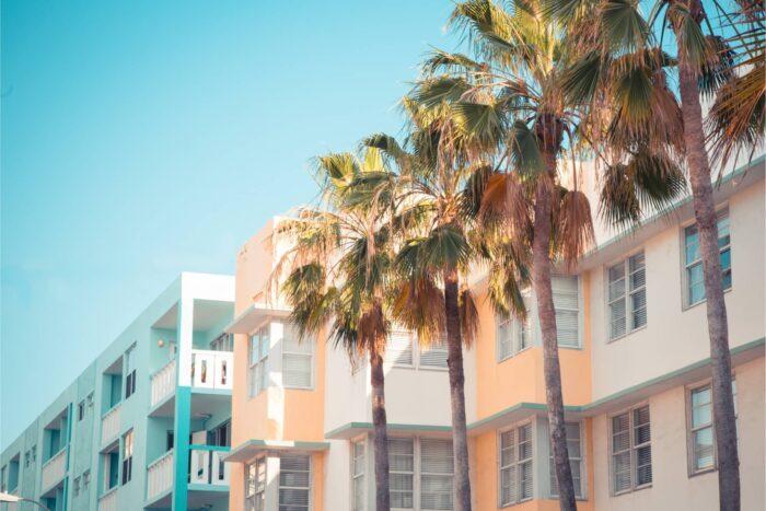 Art Deco bij South Beach in Miami