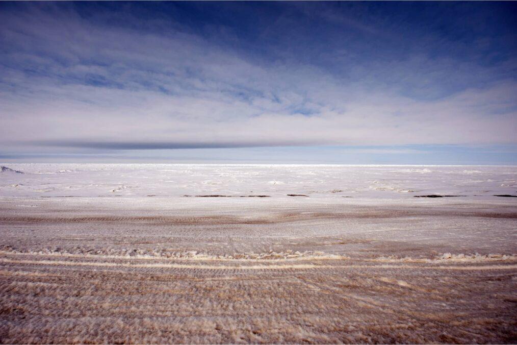 Bevroren zee bij Barrow (Utqiagvik) in Alaska
