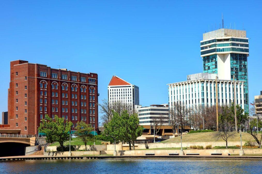 De gebouwen van Wichita