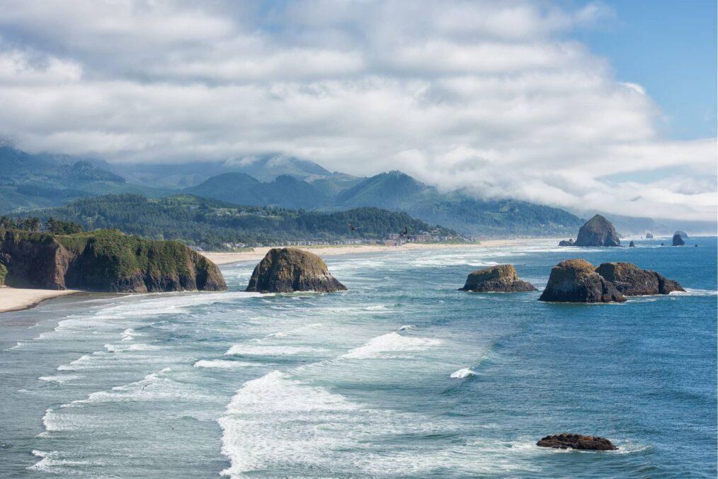 De kustlijn van Oregon