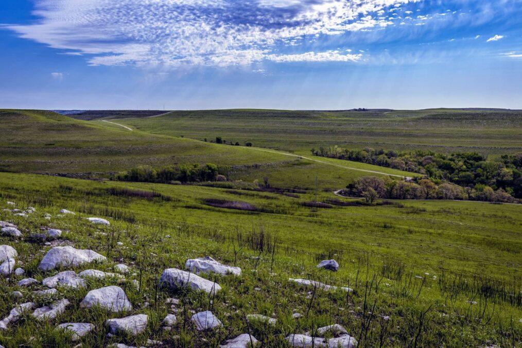 De natuur van Flint Hills in Kansas