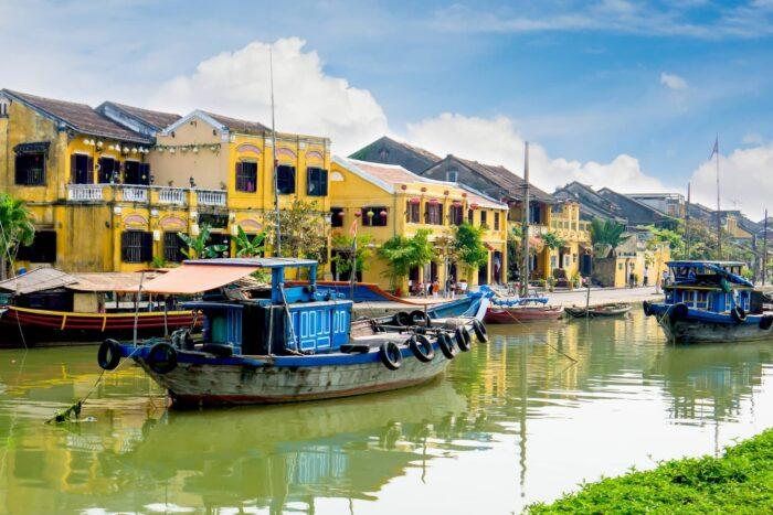 De rivierkant in Hoi An