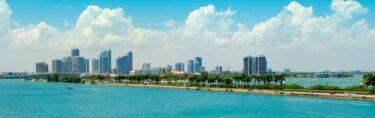 Helder blauw water bij Miami, Florida