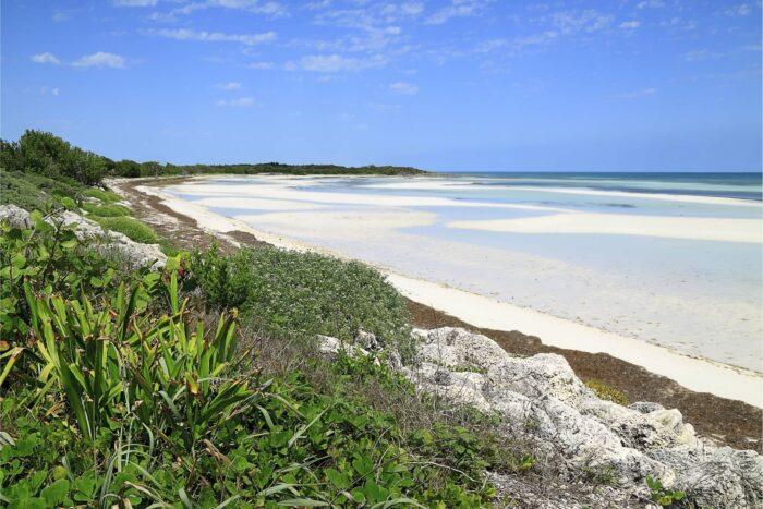 Het strand in het Bahia Honda State Park