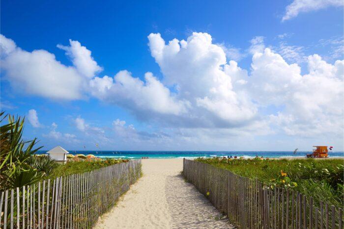 Ingang naar Miami South Beach