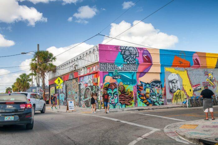 Kleurrijke muren van Wynwood