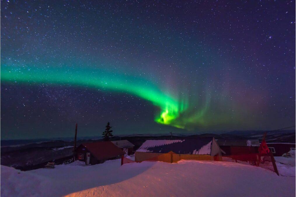 Noorderlicht (Aurora Borealis) bij Fairbanks