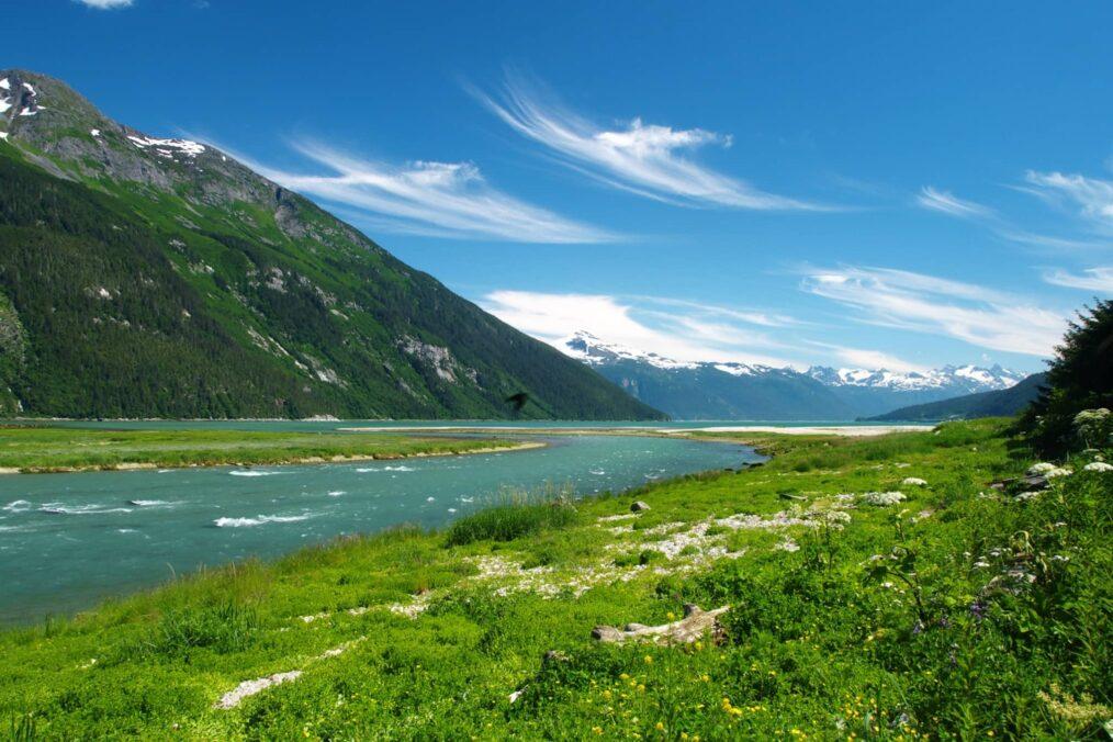 Prachtige natuur bij de Chilkoot Trail