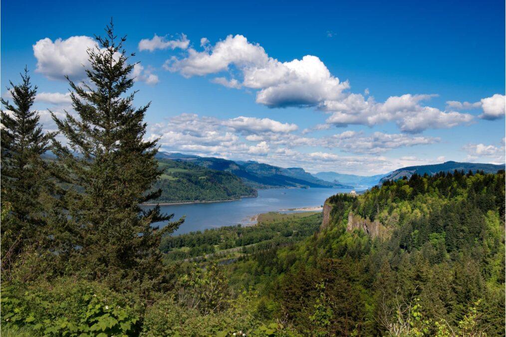 Uitzicht over Columbia River Gorge