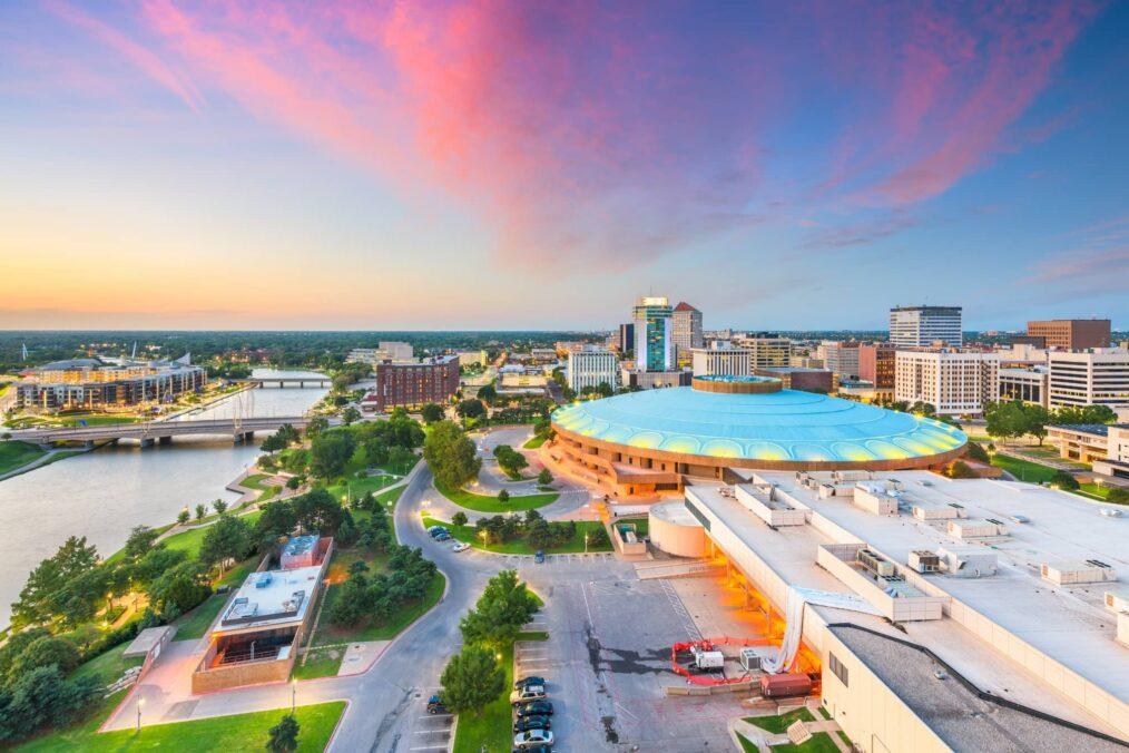 Uitzicht over Wichita in Kansas