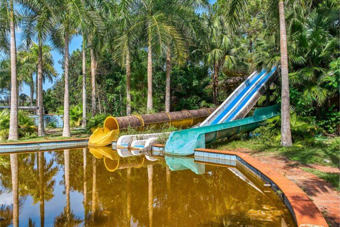 Verlaten waterpark Ho Thuy Tien in Hue