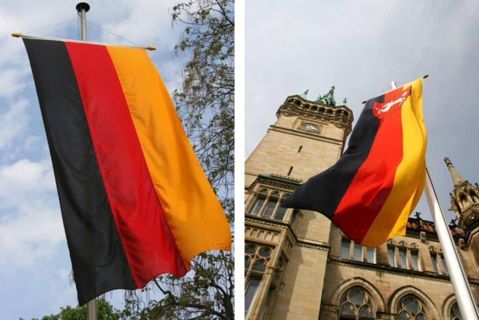 Verticale vlag van Duitsland