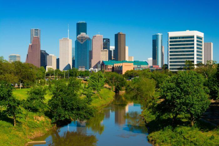 Buffalo Bayou Park in Houston