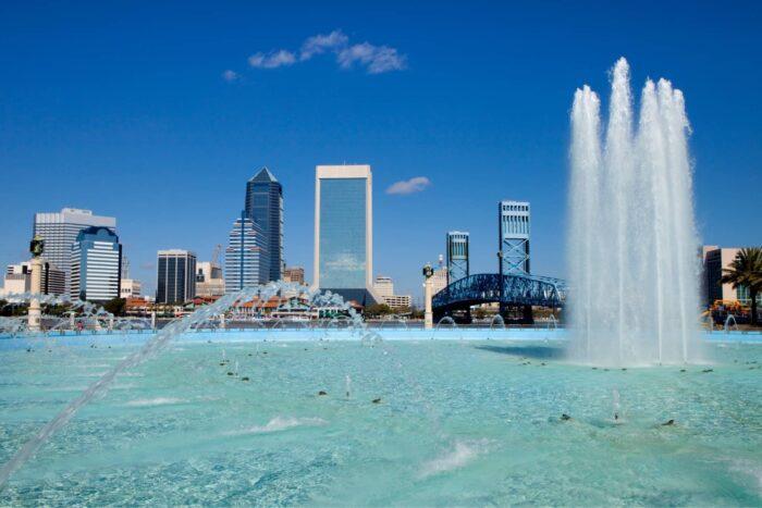 De Friendship Fountain in Jacksonville