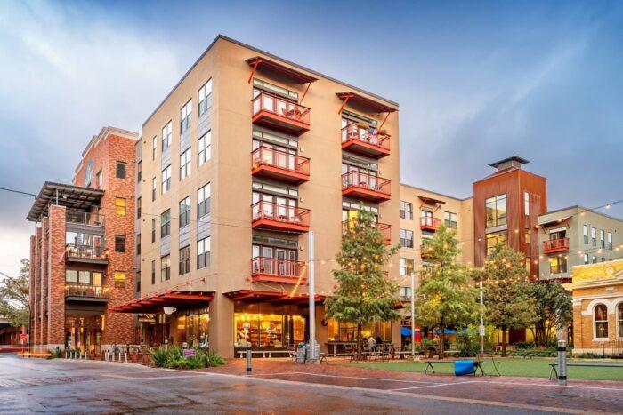 Nieuwe gebouwen in Pearl District in San Antonio