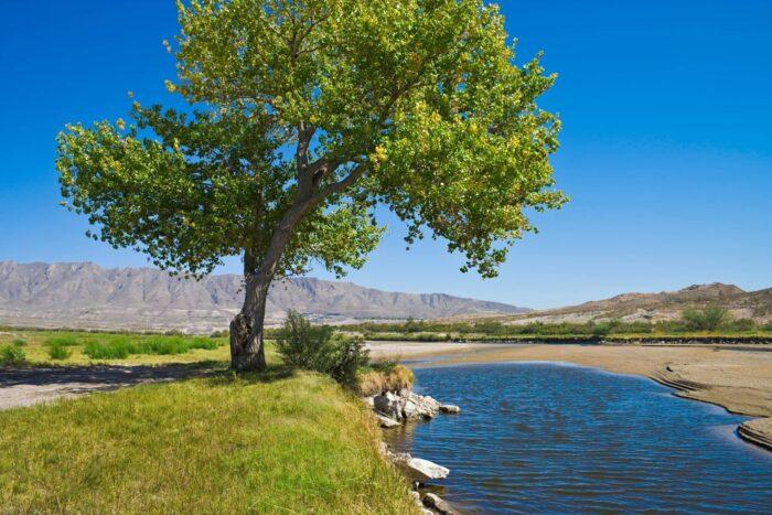 Rio Grande rivier bij El Paso