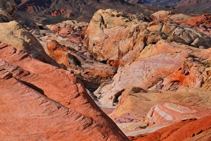 Rode heuvels in Valley of Fire National Park