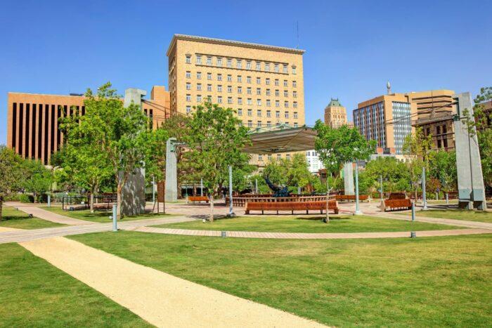 San Jacino plaza in Downtown El Paso