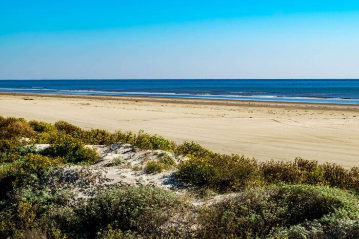 Strand bij Galveston