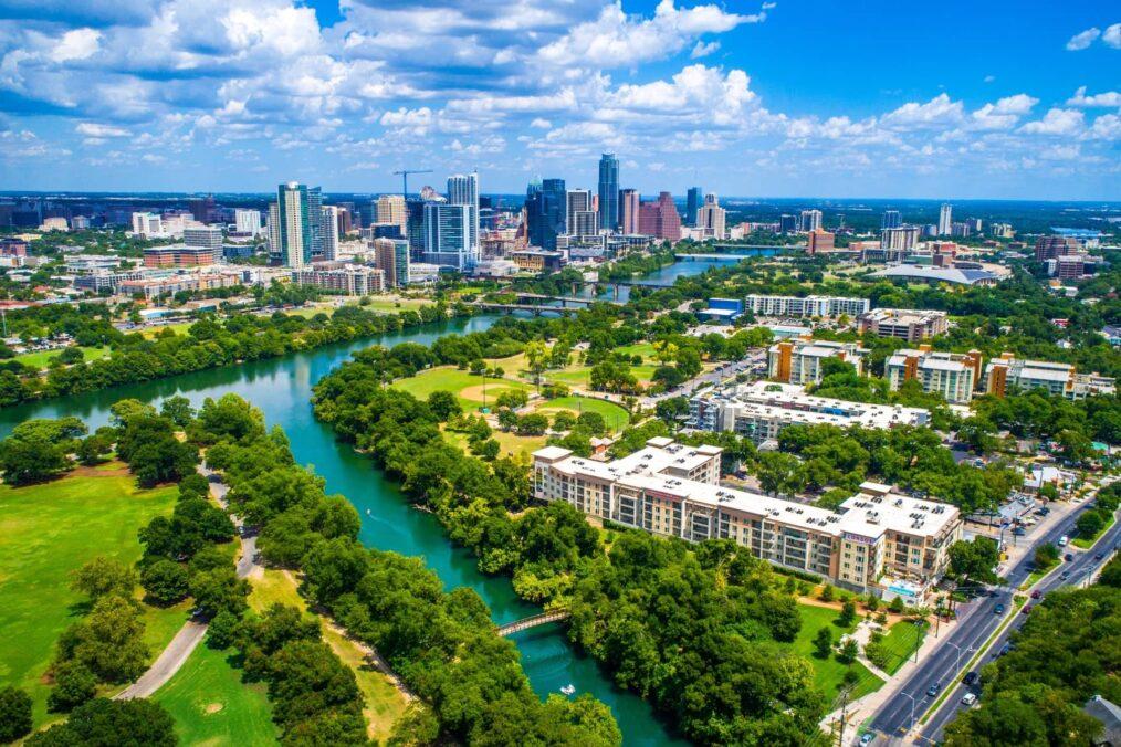 Uitzicht over Austin en Barton Creek