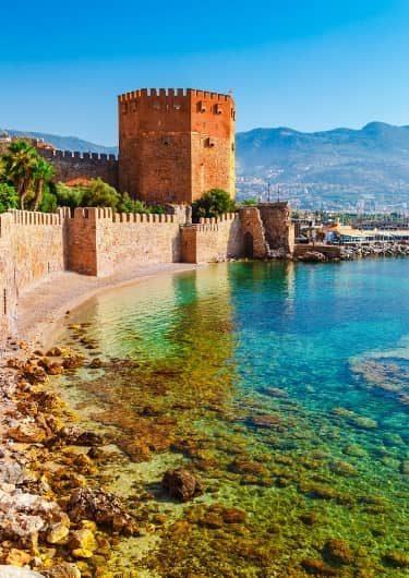 Antalya kust in Turkije