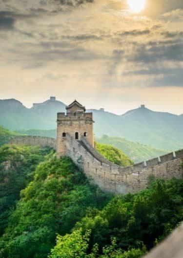 De Chinese Muur in China
