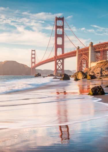 De Golden Gate bridge bij San Francisco
