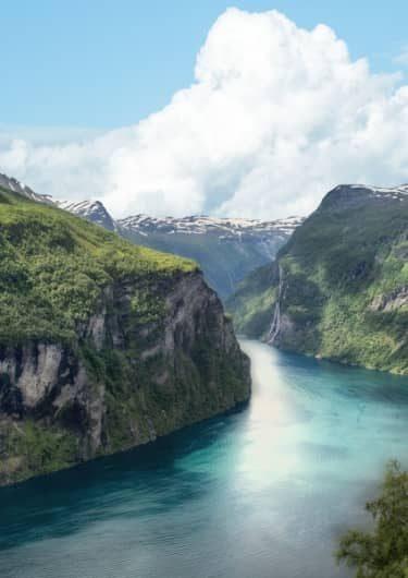 De kliffen van Noorwegen