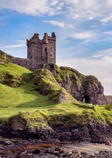 Ruïnes van oud kasteel in Schotland