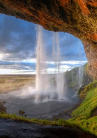 Seljalandsfoss waterval in IJsland