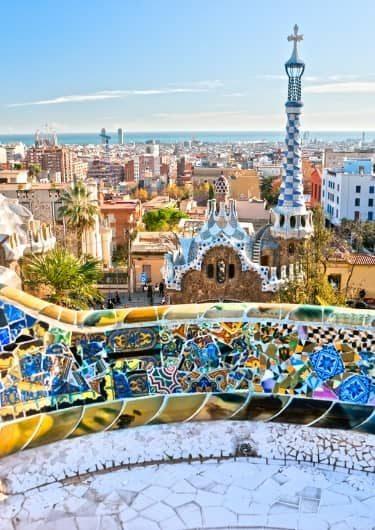Uitzicht over Barcelona in Spanje